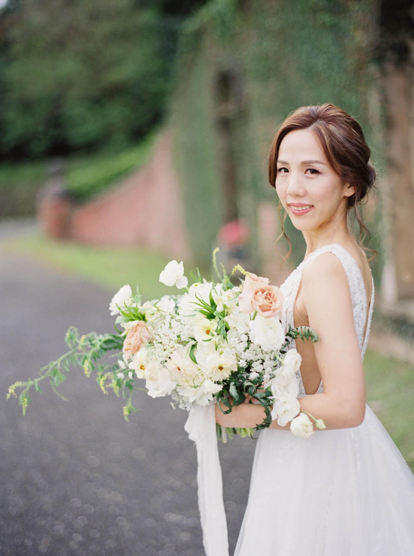 宜蘭婚紗-仁山植物園-The Stage-Mark Hong-唯諾禮服-Jill 捧花
